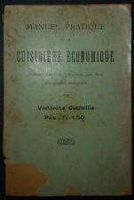 COUTELLIE: Manuel pratique de ka cuisinière économique / 1914