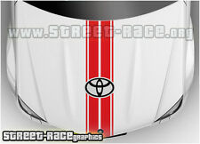 BS2104 Toyota bonnet racing stripes graphics stickers decals Aygo Yaris Hilux
