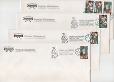 US FDC 1994 World Cup - 4 Covers Pontiac Michigan on Silverdome stationery  