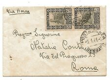 Military Air Mail Bengazi Libya Italian Forces WW2 to Rome Posta Aerea 1941