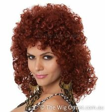 80s Perm Auburn Red Costume Wig Womens Eddie Monsoon Absolutely Fabulous AbFab