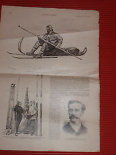 ANTIQUE NEWSPAPER HARPER'S WEEKLY THE ARTIC EXPEDITION 1891 ROBERT PEARY