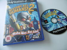 DESTROY ALL HUMANS! 2 ORIGINAL PLAYSTATION PS2 GAME PAL