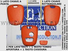 COVER GUSCIO ARANCIONE PER CHIAVE TELECOMANDO 2 TASTO PEUGEOT 206 107 207 307