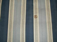 Williamsburg Waverly Spotswood Stripe Porcelain Fabric Decorator Blue Yardage