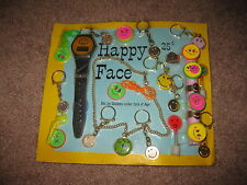 VINTAGE Retro Gumball Header HAPPY FACE WATCH Toy Charm Prize Display Card