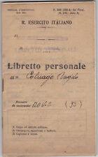 LIBRETTO PERSONALE ANGELO COLNAGO - SCUOLA UFFICIALE COMPLEMENTO SPOLETO 32-137