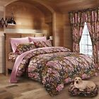 7 PC SET REGAL COMFORT PINK CAMO COMFORTER AND SHEET SET FULL SIZE CAMOUFLAGE