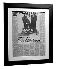 THE STRANGLERS+Rattus+IV+POSTER+RARE+RARE ORIGINAL 1977+FRAMED+FAST GLOBAL SHIP