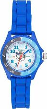 TIKKERS CHILDRENS FOOTBALL TIME TEACHER, BLUE SILICONE STRAPS WATCH/ SEN VISUAL