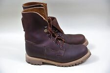 "#4 Timberland Boot Company 8"" Engineer Boots Size 8 MADE IN USA"