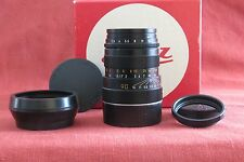 Black Leica 90mm Tele-Elmarit M f/2.8, manual focus lens, model #11800, WITH BOX