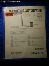 Sony Service Manual SS C990 /CT551 /SS880 /TS551 /WS551 Speaker System (#4658)
