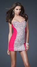 $450 NWT PINK LA FEMME PROM/PAGEANT/COCKTAIL/HOMECOMING DRESS #16368 SIZE 6