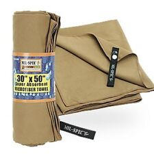 Military Microfiber Towel Super Absorbent Coyote Mil-Spec 30 x 50 Hunt Camp Hike