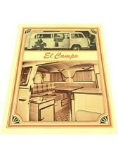 1971 VW Volkswagen El Campo Van Original 1-page Car Brochure Spec Sheet Card