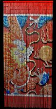 Bamboo Beaded Curtain Lucky Chinese Dragon Door Way Doorway Curtain Room Divider
