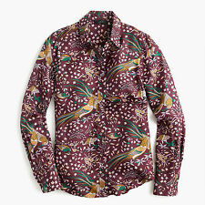 NWT DRAKE'S® for J.CREW Perfect Shirt in Bird of Paradise 2 (Wine Lilac Multi)