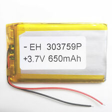 3.7V 650mAh 303759 Lipo Polymer li ion Battery for mobile phone MP3 MID GPS PAD