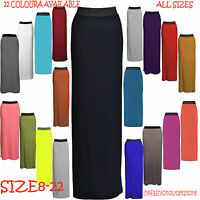 New Long Ladies Womens Jersey Maxi Skirt Gypsy Summer Bodycon Dress