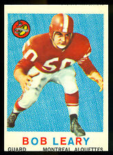 1959 TOPPS CFL FOOTBALL #36 BOB LEARY EX-NM MONTREAL ALOUETTES CARD