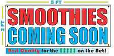 SMOOTHIES COMING SOON Banner Sign NEW Larger Size Best Quality for the $$$