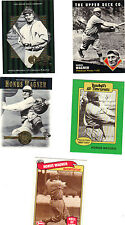 HONUS WAGNER PITTSBURGH PIRATES 5 CARD LOT, HALL OF FAME