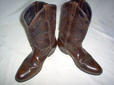 LAREDO MENS COWBOY BOOTS SIZE 9.5 EW BROWN LEATHER RUBBER SOLE PREOWNED