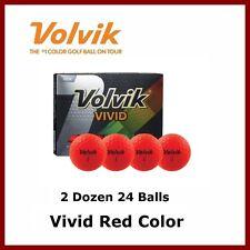 New Volvik Vivid Red Golf Ball Matte Finish 3 Pc Premium Ball 2 Dozen