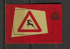 Traffic Signs No.20 Vintage Matchbox Label