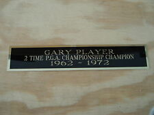 """Gary Player 2X PGA Championship Nameplate For Your Signed Golf Flag 1.25"""" X 6"""""""