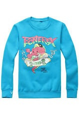 Korean Kpop Band Big Bang GD G-Dragon Cute Bonerex Cartoon Dinosaur Blue Top