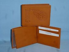 TENNESSEE TITANS  Leather BiFold Wallet   NEW   tan