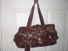 Auth CHLOE  Kerala Equipped  leather Brown bag