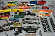 Lot Tyco HO Train Car Tracks Parts Coca Cola Baby Ruth Heinz Popsicle Texaco
