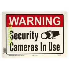 Warning Security Cameras In Use Home / Business Video Audio Surveillance Sign