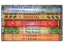 Hem Patchouli-Cedar-White Sage-Sandal-Dragon's Blood Incense 100 Sticks Sampler