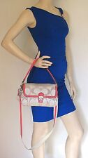 COACH 18353 Poppy Signature Sateen Layla Crossbody Bag - Excellent