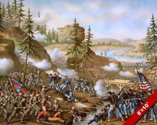 BATTLE OF CHATTANOOGA TN US CIVIL WAR OIL PAINTING ART REAL CANVAS GICLEE PRINT