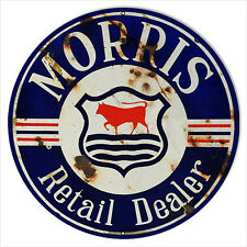 Reproduction Morris Retail Dealer Sign 24 Round