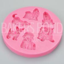 Multi Dog Breed Silicone Mould Doggy Theme Fondant Cake Decorating Sugarcraft