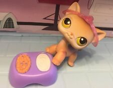 Littlest Pet Shop Cat Shorthair  Brown With Yellow Green Eyes 100% Authentic Lps