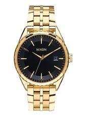 New Nixon Minx Gold Tone Stainless Steel Swiss Quartz Womens Watch A9342042
