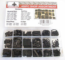 460pc GOLIATH INDUSTRIAL SHOP ASSORTMENT WOODRUFF KEY SNAP RING ROLL PIN E-CLIP