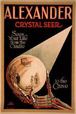 Vintage Magician Poster A4 Reprint Alexander Crystal Seer