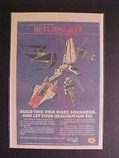 ~TOY STAR WARS JEDI SPACE SHIP MPC PLASTIC MODEL KIT PRINT AD~ VINTAGE ORIG 1983