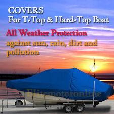 Pro-line 27 Walk Around Cuddy Cabin T-Top Hard-Top Boat Cover Blue