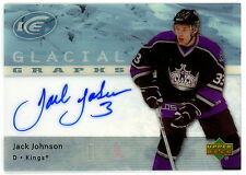 2005-06 UD GG-TA ICE TYLER ARNASON GLACIAL GRAPHS WITH AUTO SIGNED BLACK HAWKS