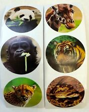 50 Zoo Jungle Animals Stickers Party Favors Teacher Supply Tiger Panda Giraffe