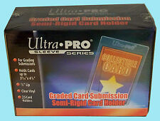 25 ULTRA PRO SEMI RIGID GRADED Card Holder NEW Sleeves PSA BGS Submission 43000